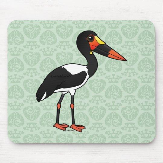 Birdorable Sattel-berechnete Storch Mousepad