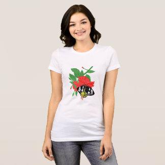 Birdwing Schmetterling und Hibiskus-Blume T-Shirt