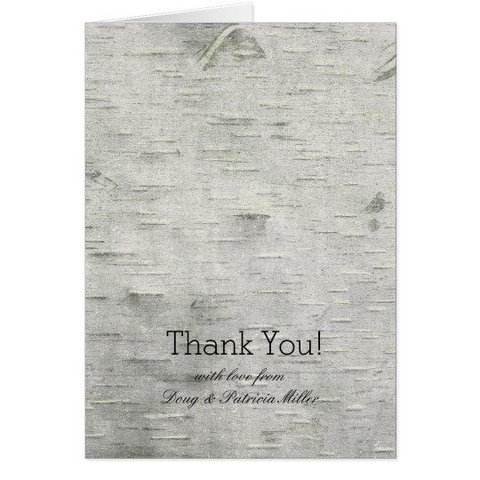 Birken-Baum-Imitat-Holz dankt Ihnen Karte