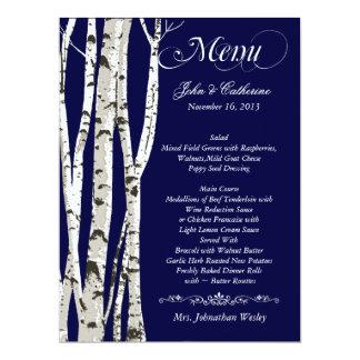 Birken-Baum-kundenspezifisches Hochzeits-Menü 16,5 X 22,2 Cm Einladungskarte