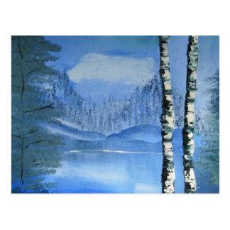 Birken-Baum-Postkarte (horizontal) Postkarte