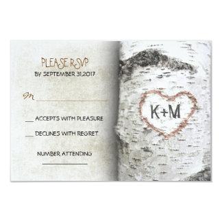Birken-Baum-rustikale Hochzeit UAWG Karten 8,9 X 12,7 Cm Einladungskarte