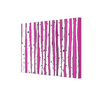 Birken-Bäume wählen Sie Hintergrund-Farbe Leinwanddruck