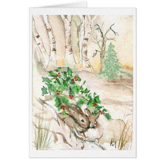 Birken-Häschen Grußkarte