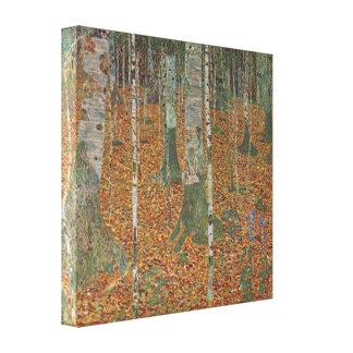 Birken-Wald durch Gustav Klimt, Vintage Kunst Leinwanddruck
