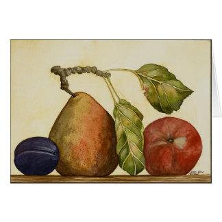 Birne, Pflaume, Apple Karte