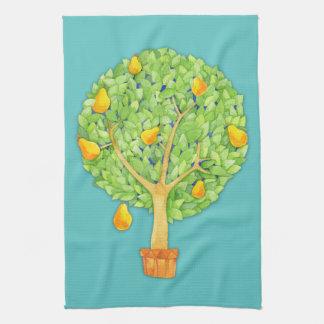 Birnen-Baum-aquamarines Küchen-Tuch Geschirrtuch