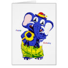 Birthday card elephant, Children's birthday Karte