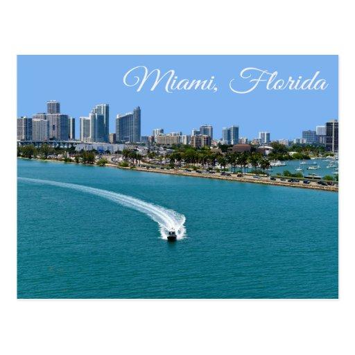 Biscayne Bucht-Miami Beach-Florida-Postkarte