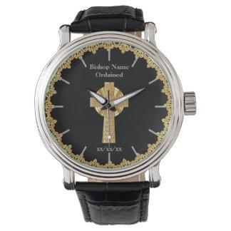 Bischofs-Klassifikation ordiniertes Gedenkgeschenk Armbanduhr