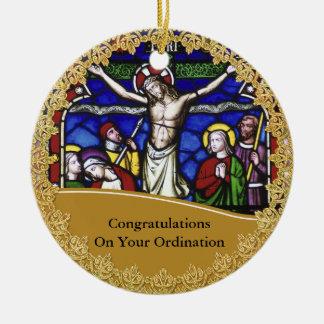 Bischofs-Klassifikation ordiniertes Gedenkgeschenk Keramik Ornament