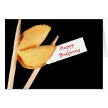 Biscuit de fortune de joyeux anniversaire cartes de vœux