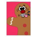 Biscuit idiot de bonhomme en pain d'épice carte de vœux