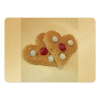 Biscuits de Saint-Valentin par Ishah Carte De Visite Grand Format