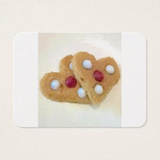 Biscuits de Saint-Valentin par Ishah Cartes De Visite