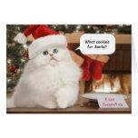 Biscuits pour la carte de Noël de Père Noël