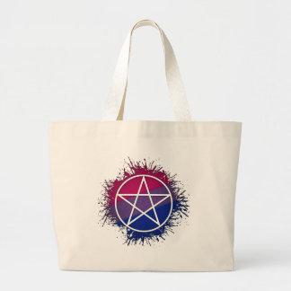 Bisexual-Stolz-Pentagramm Jumbo Stoffbeutel
