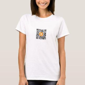 Bitcoin (BTC) Code-Frauen der Geldbörsen-QR der T T-Shirt