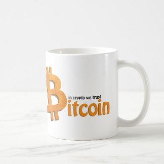 Bitcoin crypto mug - in crypto we trust coffee mug kaffeetasse