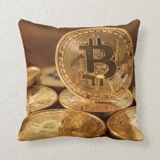 Bitcoin gold coins deco throw pillow - BTC pillow Kissen