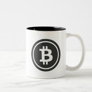 Bitcoin Logo-Kaffee-Tasse Zweifarbige Tasse