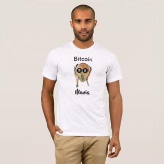 Bitcoin Manie - der SCHREI! mit schwarzen BTC T-Shirt