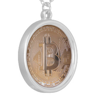 Bitcoin metallic made of copper. M1 Halskette Mit Rundem Anhänger