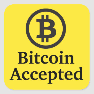 Bitcoin nahm Aufkleber-Sets an Quadrat-Aufkleber