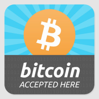 """Bitcoin nahm hier"" Aufkleber an"