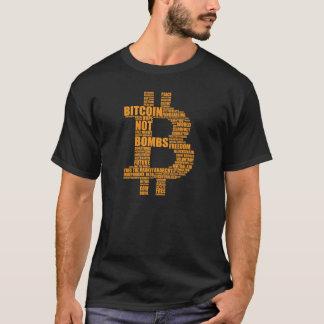 Bitcoin nicht Bomben - schwarzes T-Shirt der Wolke