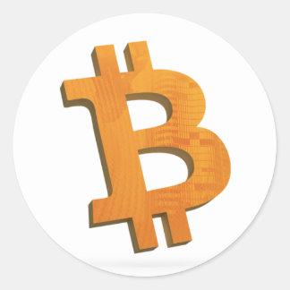 Bitcoin sticker - crypto currency 3D Bitcoin logo