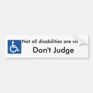 Bitte beurteilen Sie nicht Handikap Autoaufkleber