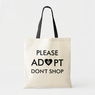 """""""Bitte kaufen Adopt nicht"""" TierTaschen-Tasche Tragetasche"""