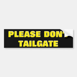 Bitte nicht tun Heckklappen-Gelb auf Schwarzem Autoaufkleber