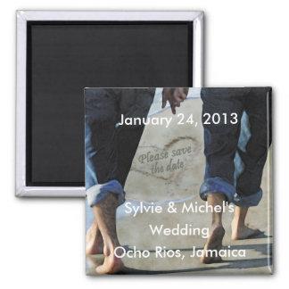 Bitte Save the Date Strand-Hochzeits-Magnet Kühlschrankmagnet