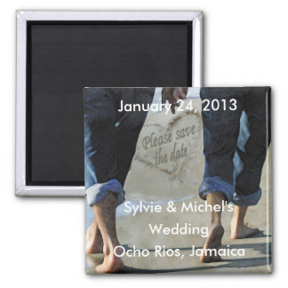 Bitte Save the Date Strand-Hochzeits-Magnet Magnete