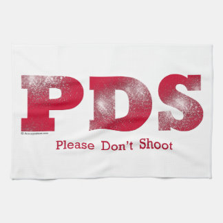 Bitte schießen Sie nicht Handtücher