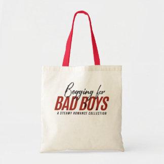 Bitten um schlechte Jungen-Buch-Tasche Tragetasche