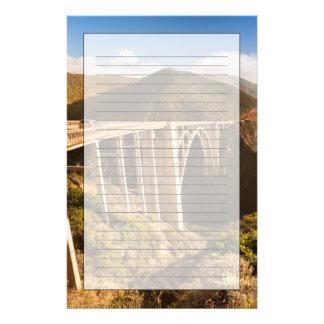Bixby Brücke, großes Sur, Kalifornien, USA Briefpapier