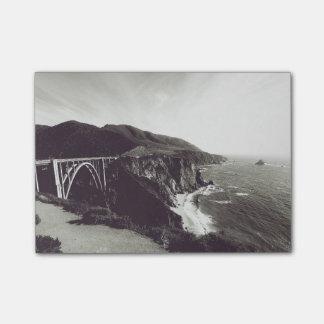 Bixby Brücke, großes Sur, Kalifornien USA Post-it Klebezettel