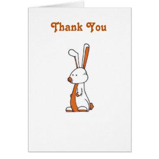 Bixby Häschen danken Ihnen zu kardieren Karte
