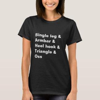BJJ Jiu Jitsu Single-Bein Armbar schwarzes Shirt