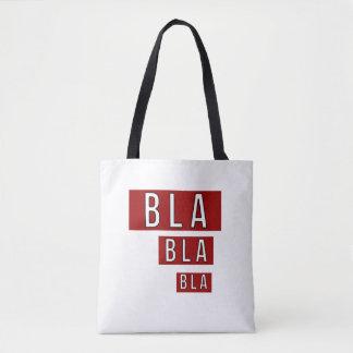Bla Bla Bla Rot Tasche