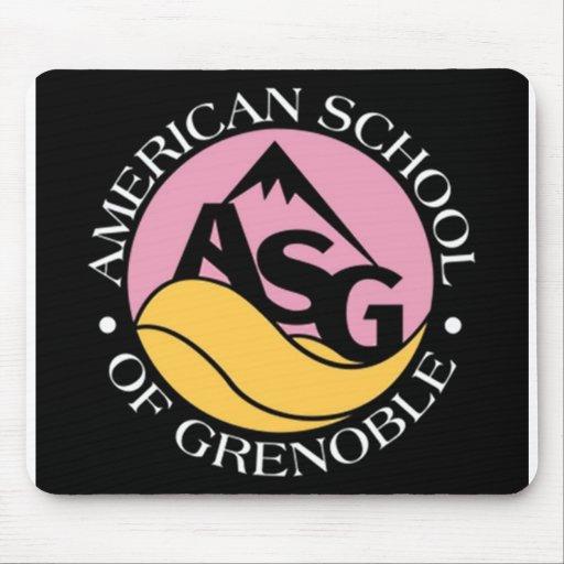 black and pink ASG mousemat Tapis De Souris