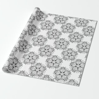 Black-And-White-Floral-Design-2 Geschenkpapier