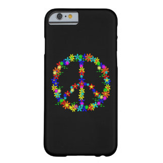 Black Case with Peace Symbol iPhone 6 Barely There iPhone 6 Hülle