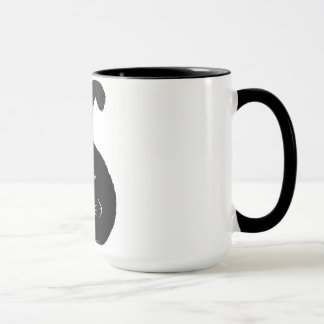 Black fatty cat mug tasse