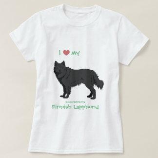 black Finnish Lapphund shirt -lapinkoira