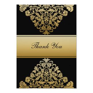 black gold wedding ThankYou Cards Announcements