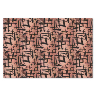 Black & Rose Gold Abstract Pattern Tissue Paper Seidenpapier
